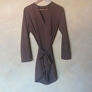 Tops - brown tunic blouse top dress size small